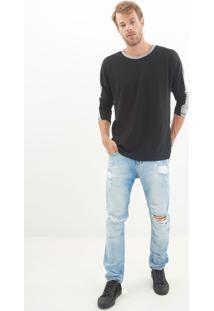 Calça John John Slim Holand 3D Jeans Azul Masculina Cc Slim Holand 3D-Jeans Claro-46