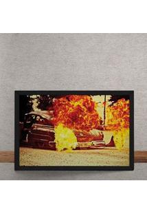 Quadro Decorativo Rat Rod Fire 25X35