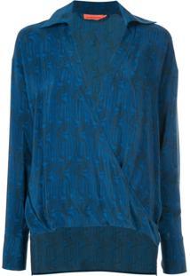 Manning Cartell Blusa Estampada - Azul