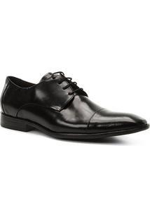 Sapato Social Couro Shoestock Tradicional Romana Masculino - Masculino-Preto