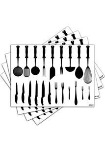 Jogo Americano - Utensílios De Cozinha Com 4 Peças - 221Jo