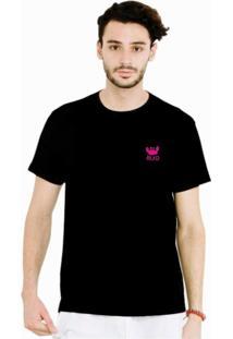 Camiseta Manga Curta Relaxado Caranguejo Pink Preto