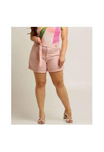 Short Plus Size Feminino Amarração Razon