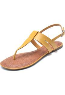 6433375a3 Rasteira Amarela Recorte feminina | Shoelover