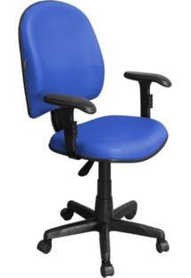 Cadeira De Escritório Pethiflex Excellence Pegbd Executiva Giratória Braços Reguláveis Azul