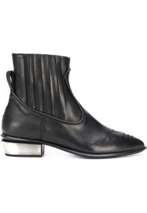 Kate Cate Ankle Boot Cowboy - Preto