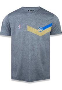 T-Shirt New Era Performance Golden State Warriors Mescla Grafite