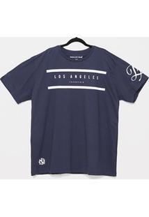 Camiseta Industrie Los Angeles Plus Size Masculina - Masculino-Marinho