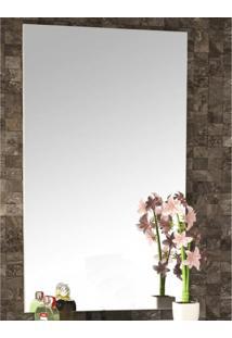 Espelho De Parede Pietra 100Cmx60Cm Móveis Bosi Branco