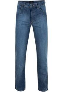 Calça Jeans Pierre Cardin Premium Masculina - Masculino-Azul