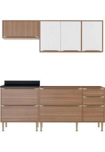 Cozinha Compacta Multimóveis Calábria 5459.680.131.680 Nogueira Branco Se