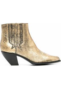 Golden Goose Ankle Boot Cowboy - Dourado