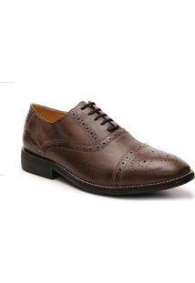 Sapato Casual Oxford Couro Sandro & Co.Masculino - Masculino-Marrom Claro