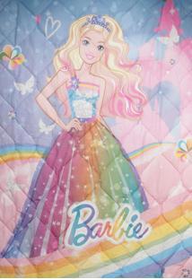 Edredom Infantil Lepper Kids Barbie Reino Do Arco-Íris Rosa