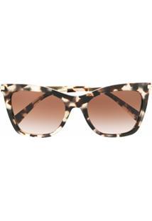 Valentino Eyewear Óculos De Sol Gatinho - Neutro