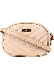 Bolsa Pagani Mini Bag Transversal Feminina - Feminino-Areia