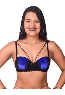 Sutiã Vip Veludo Azul