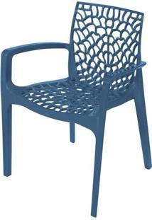 Cadeira Gruver Com Braco Polipropileno Azul - 30480 Sun House