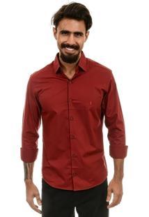 Camisa Bypride Manga Longa Mahdi Vinho