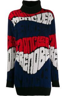 Moncler Grenoble Knitted Logo Jumper - Azul