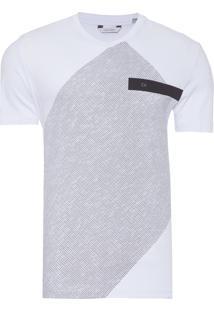Camiseta Masculina Com Estampa Grid - Branco