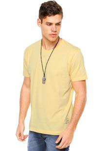 Camiseta Manga Curta Colcci Denim Amarela