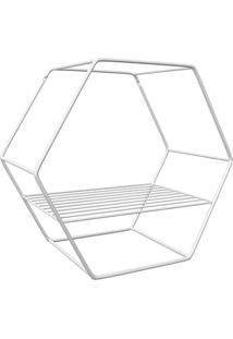 Nicho Hexagonal Em Aço 30Cm Branco