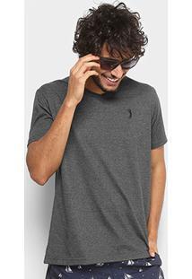 Camiseta Aleatory Gola V Masculina - Masculino-Mescla