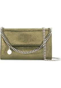 Stella Mccartney Small Falabella Metallic Crossbody Bag - Verde