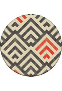 Tapete Love Decor Redondo Wevans Amazing Multicolorido 84Cm