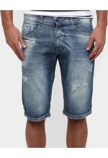 Bermuda Jeans Biotipo Lavada Destroyed - Masculino