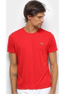 Camiseta Lacoste - Masculino-Vermelho+Preto