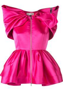 Dice Kayek Blusa Com Ombreiras - Rosa