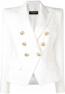 Balmain Blazer Com Botões - Branco