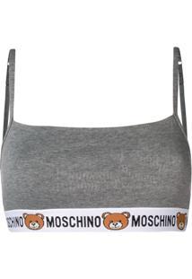 Moschino Sutiã Teddy Bear - Cinza