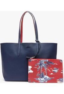 Bolsa Lacoste Feminina - Feminino-Azul Petróleo+Azul