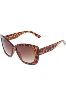 2007d1fea ... Óculos De Sol Dafiti Accessories Amplo Caramelo