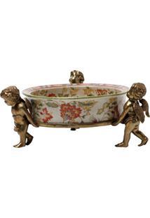 Cinzeiro Decorativo De Porcelana Le Jardin