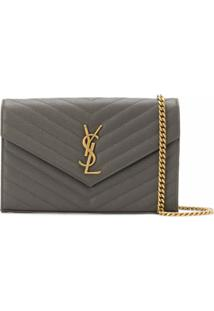 Saint Laurent Bolsa Transversal Envelope Y - Marrom