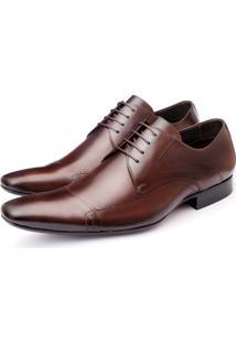 Sapato Social Ettore Couro Marrom