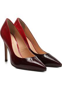 Scarpin Shoestock Salto Alto Degradê - Feminino-Bordô