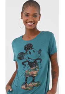 Blusa Cativa Disney Mickey Verde
