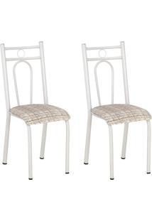 Conjunto 2 Cadeiras Hanumam Branco E Rattan