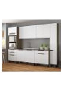 Cozinha Compacta Itamaxi I 11 Pt 4 Gv Branca E Castanho
