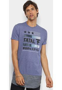 Camiseta Fatal Dry Alongada Masculina - Masculino