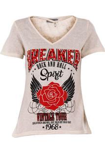 Camiseta Choker Feminina Acrobat - Bege