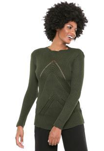 Suéter Mercatto Tricot Color Verde