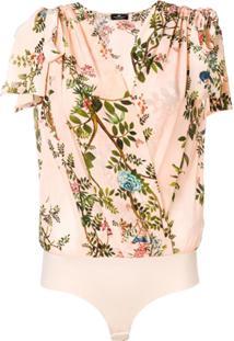 Elisabetta Franchi Body Floral - Rosa