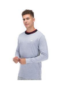 Camiseta Manga Longa Ecko Estampa E533A - Masculina - Cinza Claro