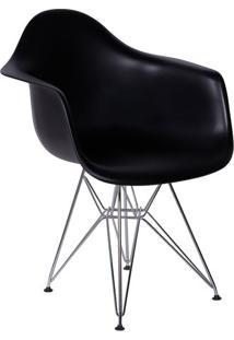 Poltrona Eames Com Braã§O- Preta- 82X62X44Cm- Or Or Design